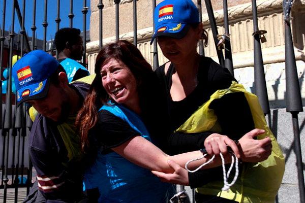 Protestas contra los CIE en Madrid - Foto:  Olmo Calvo