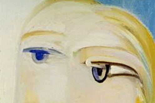 "Fragmento de la obra de Picasso ""Tete de femme (Marie Therese Walter, 1939)."