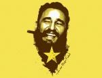 """""""Y en eso llegó Fidel"""". Ilustración: Francis Rojas."""