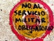 """No al servicio militar obligatorio"". Foto: Daniel Toro R."