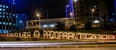 """""""Coca regulada, paz garantizada"""". Foto: ATS."""