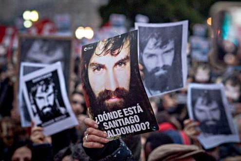 Manifestaciones por la aparición con vida de Santiago Maldonado. Foto: Colectivo Manifiesto.