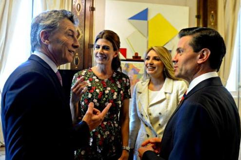 Macri y Peña Nieto. Foto: Casa Rosada.