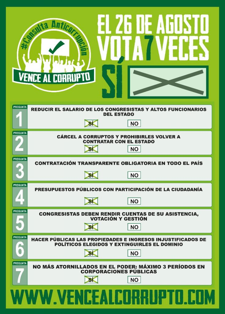 Estos son los 7 mandatos de la consulta anticorrupción.