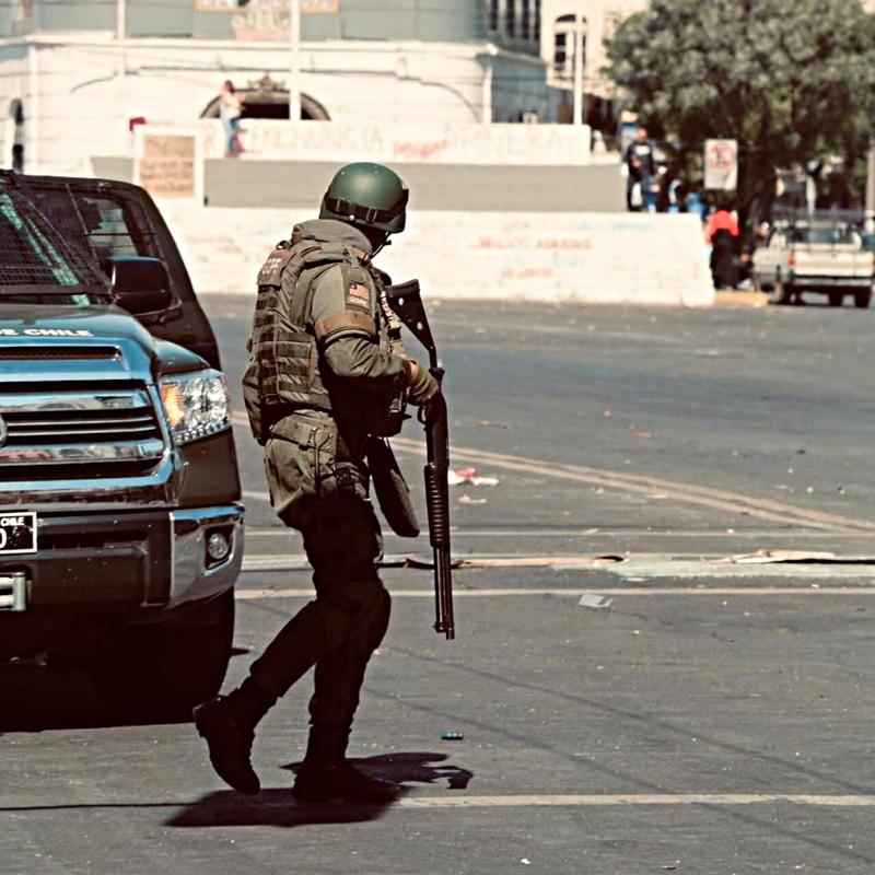 Las acciones represivas del cuerpo policial de Carabineros han causado decenas de víctimas. Foto: Jorge Carvallo, Radio Placeres.